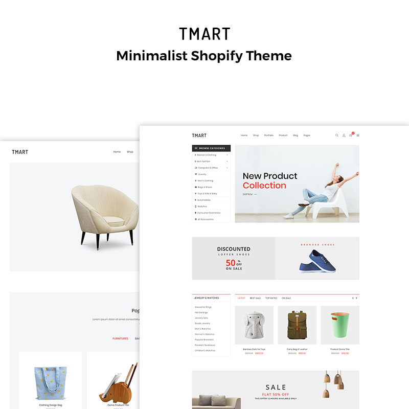 Tmart – Minimalist Shopify Theme