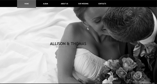 Wedding Flash Photo Gallery Template