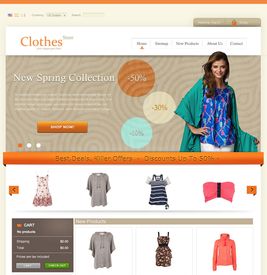 CLOTHES STORE theme