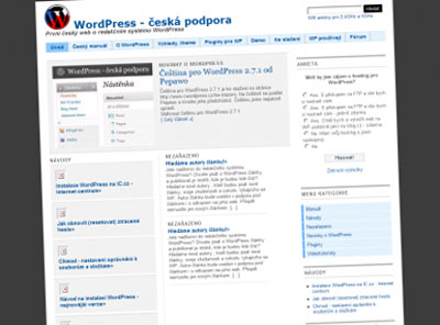 WordPress portál