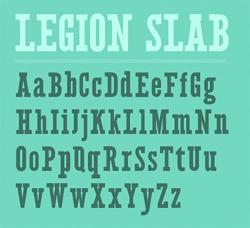 Legion Slab Typeface