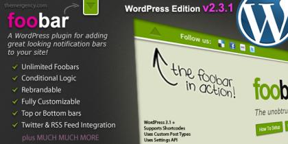 Foobar – WordPress Notification Bars