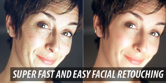 Facial retouching that allows you to remove unwanted blemishes and scars