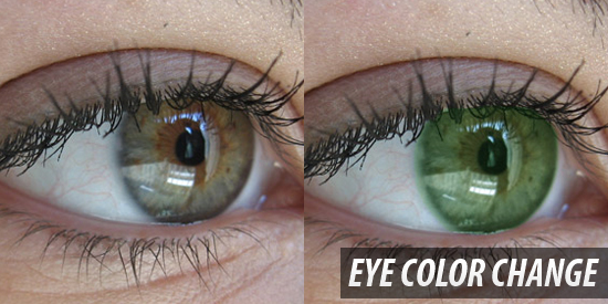 Hanging of eye color