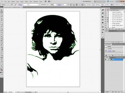 Vector Jim Morrison - Tutorial
