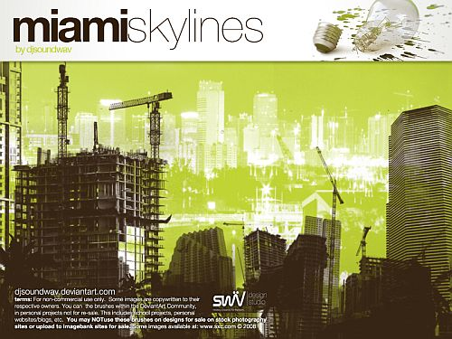 BrushSets: Miami Skyline by ~djsoundwav on deviantART
