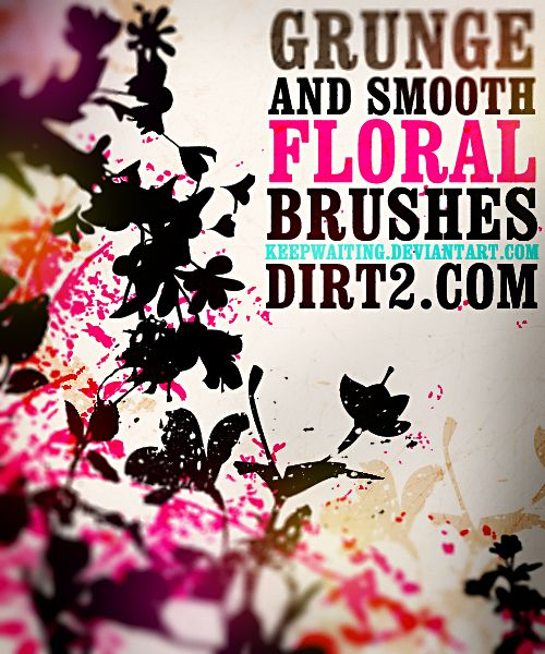 Floral Photoshop Brushes by ~KeepWaiting on deviantART