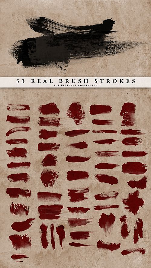 Real Brush Strokes Set by ~doodle-lee-doo on deviantART