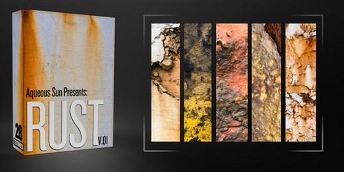 Aqueous Sun Presents Rust v.01 – 28 Free Textures