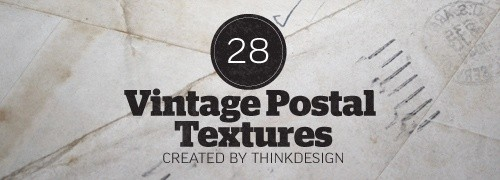 Free Textures - 28 High-Res Vintage Postal Textures