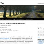 Publishing systems – WordPress 3.0