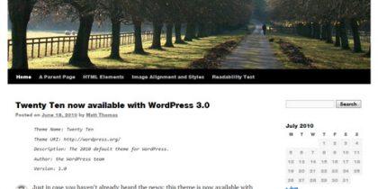 Publishing systems – WordPress 3.0