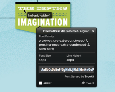 WhatFont Tool – The easiest way to inspect fonts in webpages..