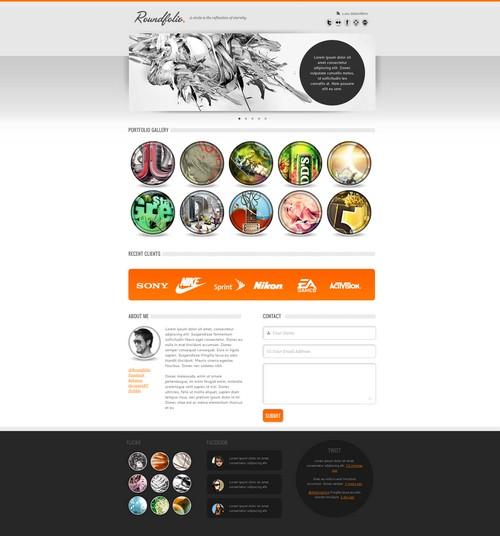 Roundfolio: A Free Portfolio Template